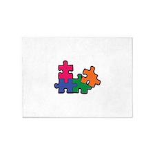 PUZZLE PIECES 5'x7'Area Rug