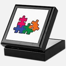 PUZZLE PIECES Keepsake Box
