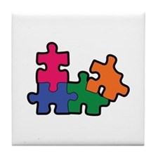 PUZZLE PIECES Tile Coaster
