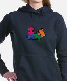 PUZZLE PIECES Women's Hooded Sweatshirt
