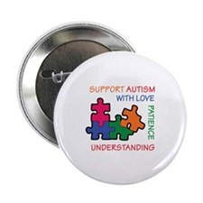 """AUTISM SUPPORT 2.25"""" Button (100 pack)"""