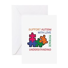 AUTISM SUPPORT Greeting Cards