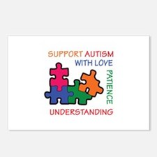 AUTISM SUPPORT Postcards (Package of 8)