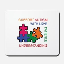 AUTISM SUPPORT Mousepad