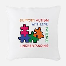 AUTISM SUPPORT Woven Throw Pillow