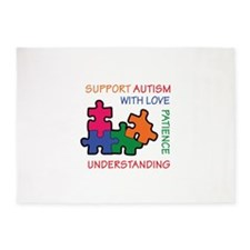 AUTISM SUPPORT 5'x7'Area Rug
