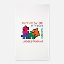 AUTISM SUPPORT Area Rug