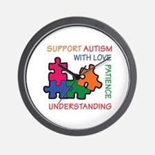 AUTISM SUPPORT Wall Clock