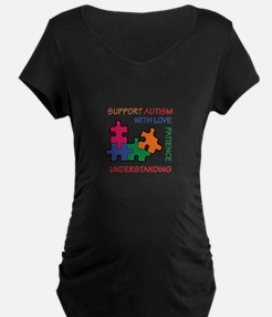 AUTISM SUPPORT Maternity T-Shirt