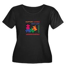AUTISM SUPPORT Plus Size T-Shirt