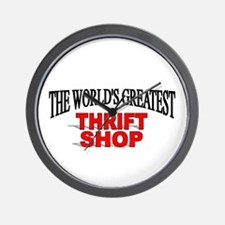 """The World's Greatest Thrift Shop"" Wall Clock"