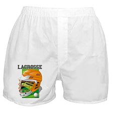 Lacrosse Helmet (Orange) Boxer Shorts