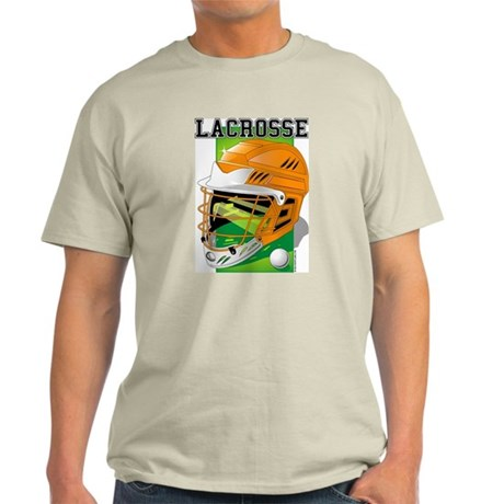 Lacrosse Helmet (Orange) Ash Grey T-Shirt