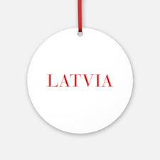 Latvia-Bau red 400 Ornament (Round)
