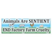 End Factory Farm Cruelty - Bumper Bumper Bumper Sticker