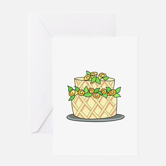 CAKE WITH FLOWERS Greeting Cards