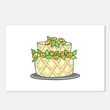 CAKE WITH FLOWERS Postcards (Package of 8)