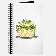 CAKE WITH FLOWERS Journal