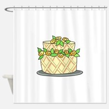 CAKE WITH FLOWERS Shower Curtain