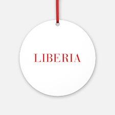 Liberia-Bau red 400 Ornament (Round)