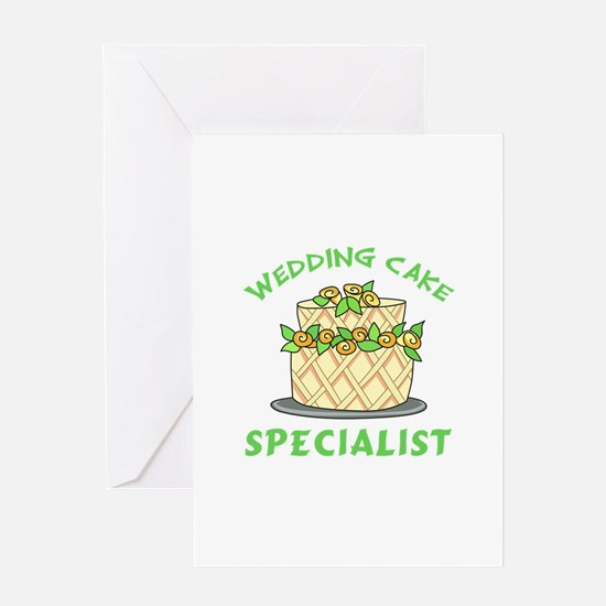 WEDDING CAKE SPECIALIST Greeting Cards