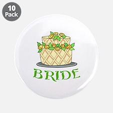"""BRIDES WEDDING CAKE 3.5"""" Button (10 pack)"""