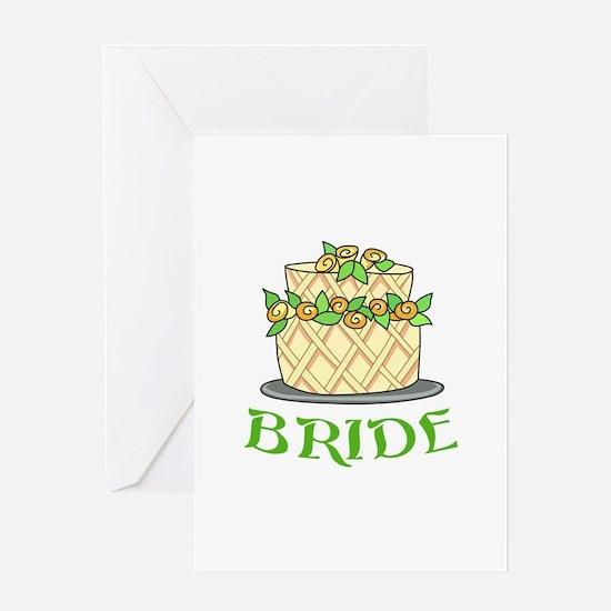 BRIDES WEDDING CAKE Greeting Cards