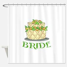 BRIDES WEDDING CAKE Shower Curtain