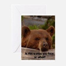 Miss You Face  Greeting Cards (Pk of 10)