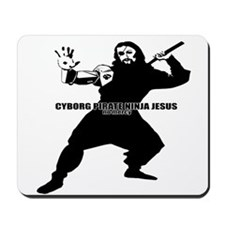Cyborg Pirate Ninja Jesus Mousepad