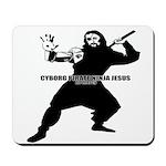 Cyborg Pirate Ninja Jesus Mousepad