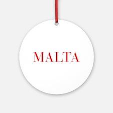 Malta-Bau red 400 Ornament (Round)