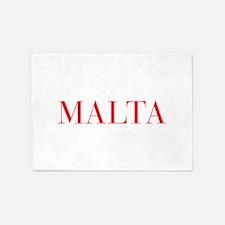 Malta-Bau red 400 5'x7'Area Rug