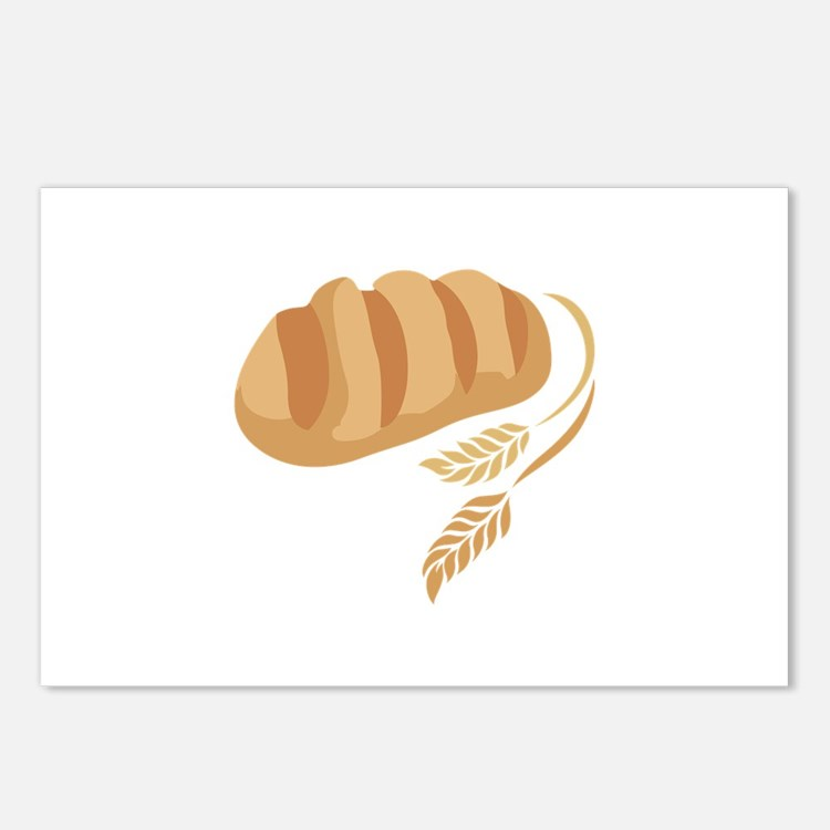 BREAD AND WHEAT Postcards (Package of 8)