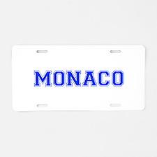 Monaco-Var blue 400 Aluminum License Plate