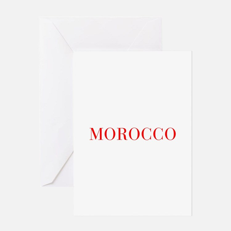 Morocco-Bau red 400 Greeting Cards