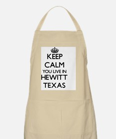 Keep calm you live in Hewitt Texas Apron