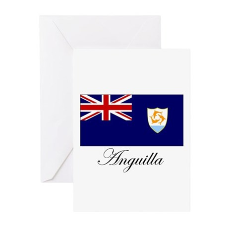 Anguilla - Flag Greeting Cards (Pk of 20)