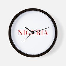 Nigeria-Bau red 400 Wall Clock