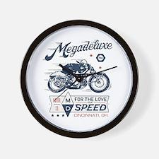 Bike Love of Speed Wall Clock