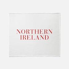 Northern Ireland-Bau red 400 Throw Blanket