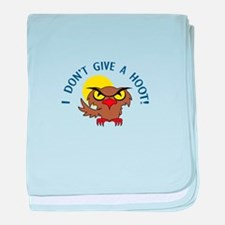 I DONT GIVE A HOOT baby blanket