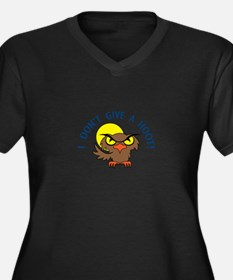 I DONT GIVE A HOOT Plus Size T-Shirt