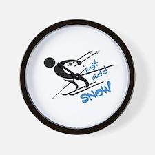 JUST ADD SNOW Wall Clock