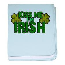 Unique Kiss me im irish baby blanket