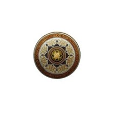 Traditional Geometric & Floral Pattern Mini Button
