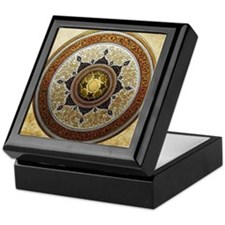 Traditional Geometric & Floral Patter Keepsake Box