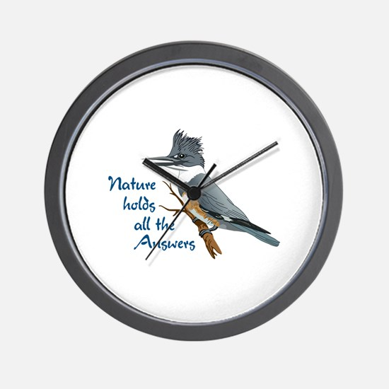 NATURE HOLDS ANSWERS Wall Clock