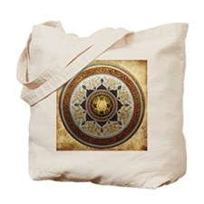 Traditional Geometric & Floral Pattern Tote Bag