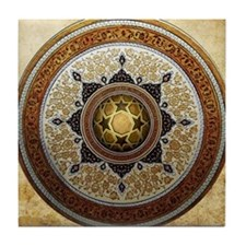 Traditional Geometric & Floral Patter Tile Coaster